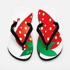 Juicy Ripe Strawberry  Flip Flops