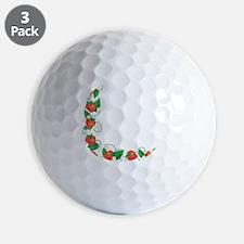 Fresh Summer Strawberries Border Golf Ball