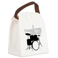 I T-Bagged your Drum Set Canvas Lunch Bag