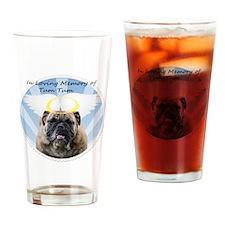 Bulldog angel Drinking Glass