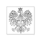 Polish eagle Square