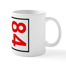 84 Autocross Number Plates Mug
