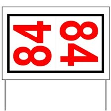 84 Autocross Number Plates Yard Sign