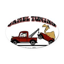 Camel Towing Oval Car Magnet