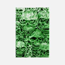 skull 55 dark green shade tall Rectangle Magnet
