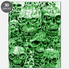 skull 55 dark green shade tall Puzzle