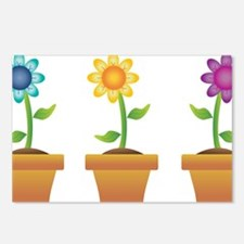 Pretty Flowers in Pots Postcards (Package of 8)