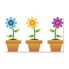 Pretty Flowers in Pots Car Magnet 20 x 12