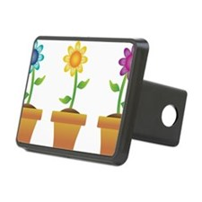 Pretty Flowers in Pots Hitch Cover