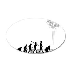 Pyrotechnician 35x21 Oval Wall Decal