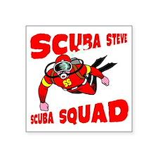 "Scuba Steve Square Sticker 3"" x 3"""