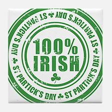 Irish vintage Tile Coaster
