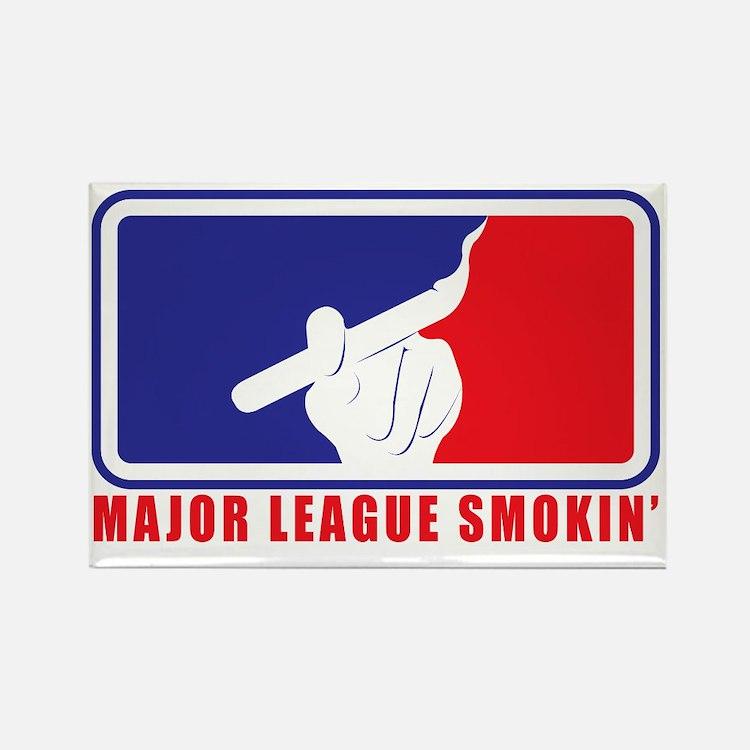 Major League Smokin Rectangle Magnet