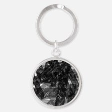 equationsblktransparent Round Keychain