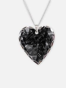 equationsblktransparent Necklace Heart Charm