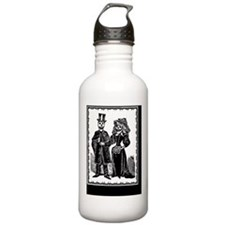 Skeleton Couple, Black Water Bottle
