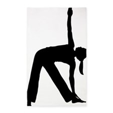 Silhouette of a Woman Exercising 3'x5' Area Rug