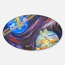 Pisces Zodiac Sign Sticker (Oval)
