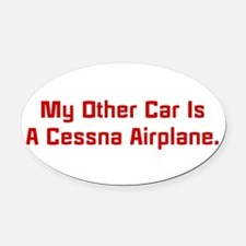 My other car is a broom Oval Car Magnet