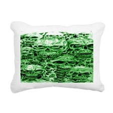 skull 45 dark green shad Rectangular Canvas Pillow