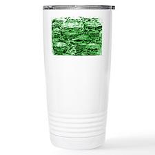 skull 45 dark green shade Travel Mug