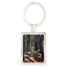 pine forest Portrait Keychain