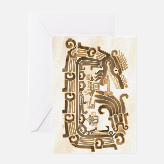 Xochicalco Feathered Serpent Greeting Card
