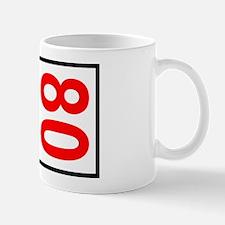 80 Autocross Number Plates Mug