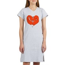 Foxes Mate for Life Women's Nightshirt