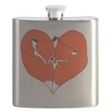 Foxes Mate for Life Flask