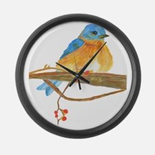 Young Bluebird Large Wall Clock