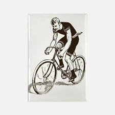 Retro Cyclist Rectangle Magnet