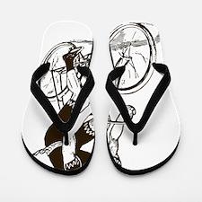 Retro Cyclist Flip Flops