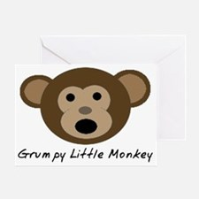 Grumpy Little Monkey Greeting Card