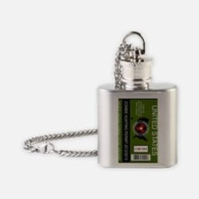 zombie hunting permit keychain Flask Necklace
