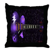 Dig The Purple Throw Pillow