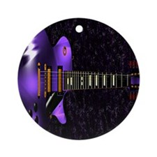 Dig The Purple Round Ornament