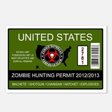 zombie permit rectangle Postcards (Package of 8)