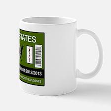 zombie permit rectangle Mug