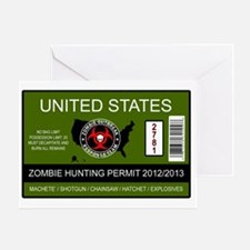 zombie permit rectangle Greeting Card