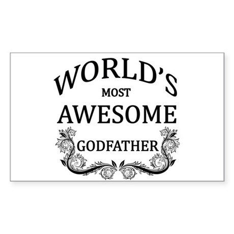 World's Most Awesome Godfather Sticker (Rectangle)