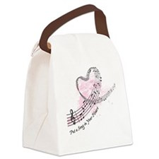 Put a Song in Your Heart Canvas Lunch Bag