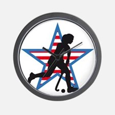 female hockey player Wall Clock