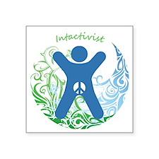 "Intactivist Square Sticker 3"" x 3"""