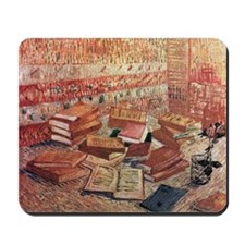 French Novels and Rose Mousepad