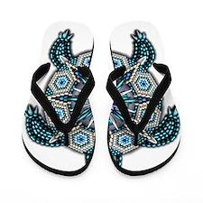 Native American Turtle 01 Flip Flops