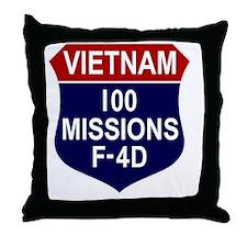 F-4D Phantom II Throw Pillow