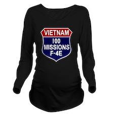F-4E Phantom II Long Sleeve Maternity T-Shirt