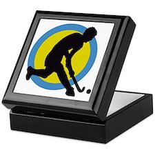 hockey player Keepsake Box