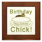 Birthday Chick! Framed Tile